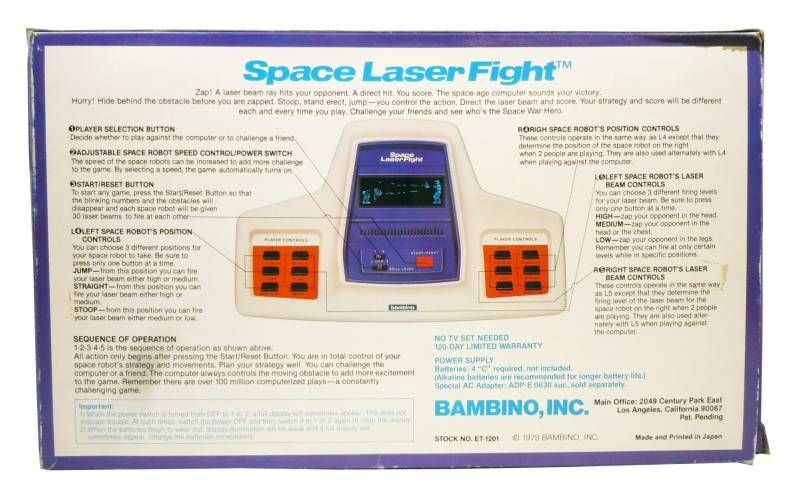 Bambino - Table Top - Space Laser Fight
