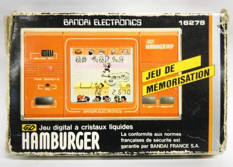 Bandai Electronics - Handheld Game - Hamburger