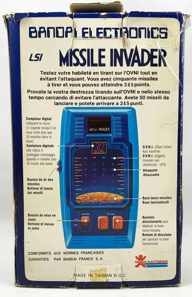 Bandai Electronics - LSI Portable Game - Missile Invader (loose with box)