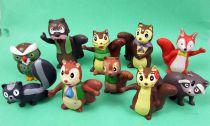 Bannertail : The Story of Gray Squirrel - Série de 10 figurines PVC - Maia & Borges