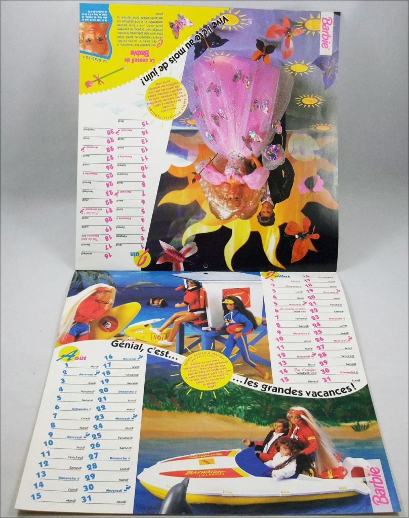 Barbie - 1995 Monthly Calendar