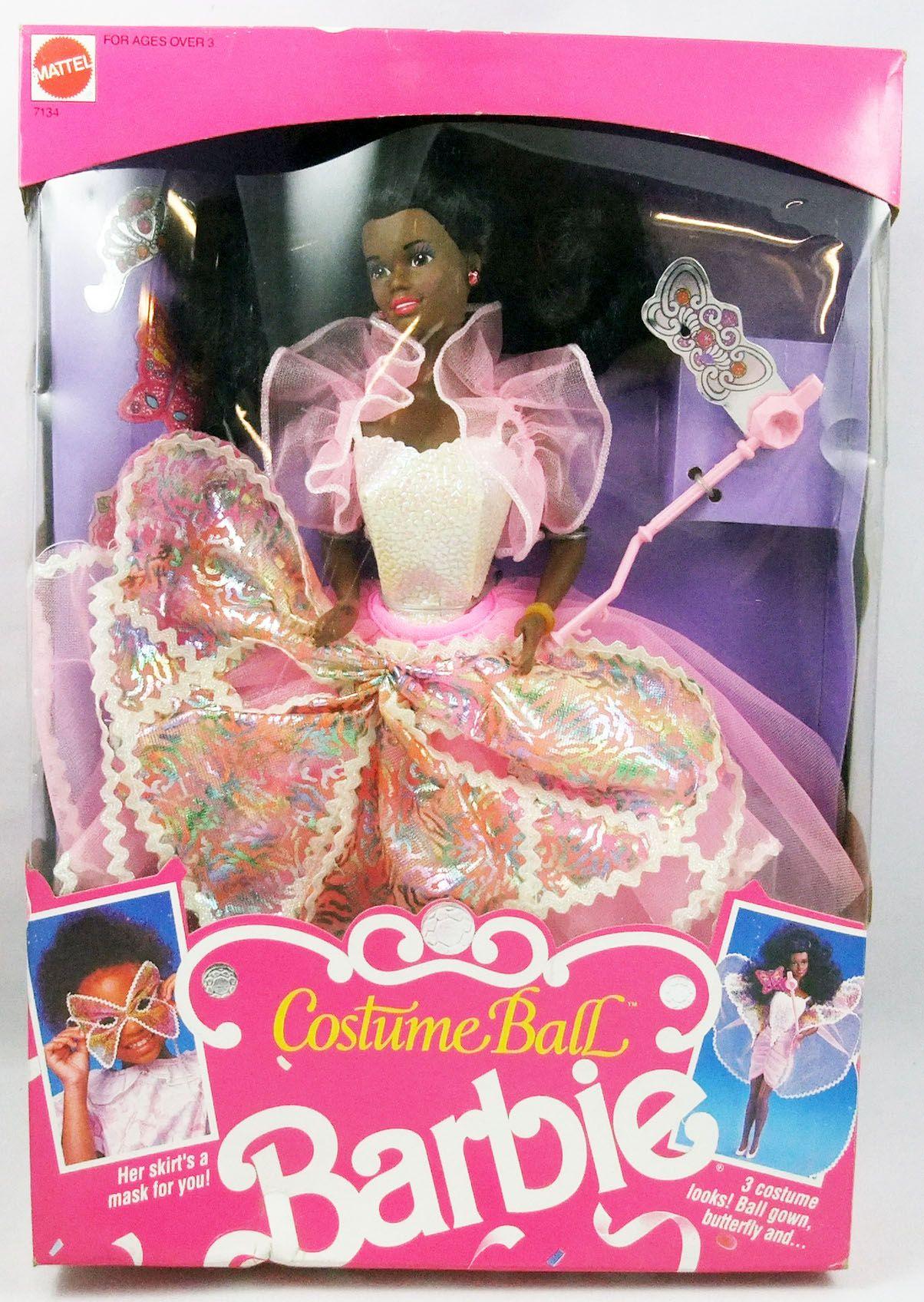 Barbie - Barbie (noire) Costume Ball Fantasy - Mattel 1990 (ref.7134)