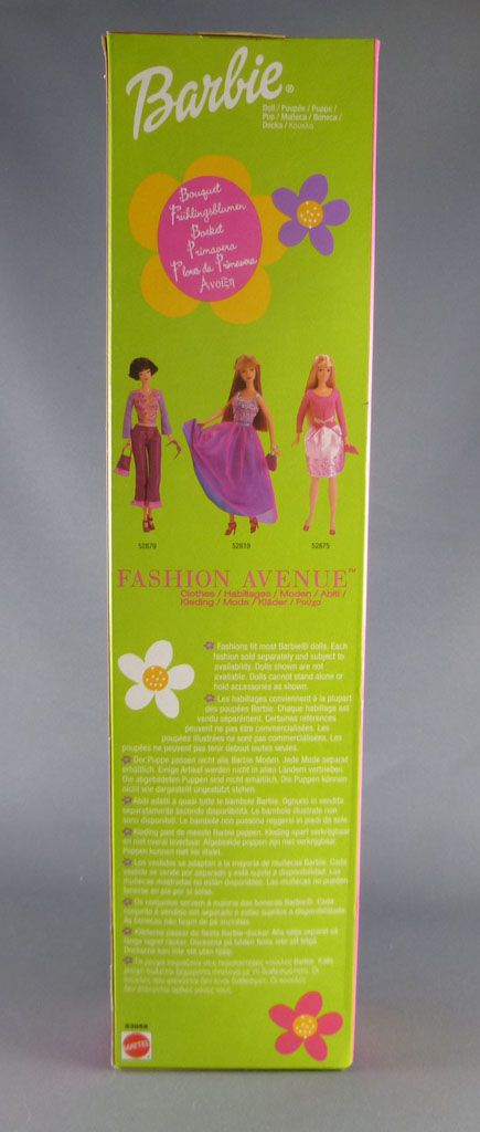 Barbie - Barbie Bouquet robe verte - Mattel 2001 (ref. 53858)