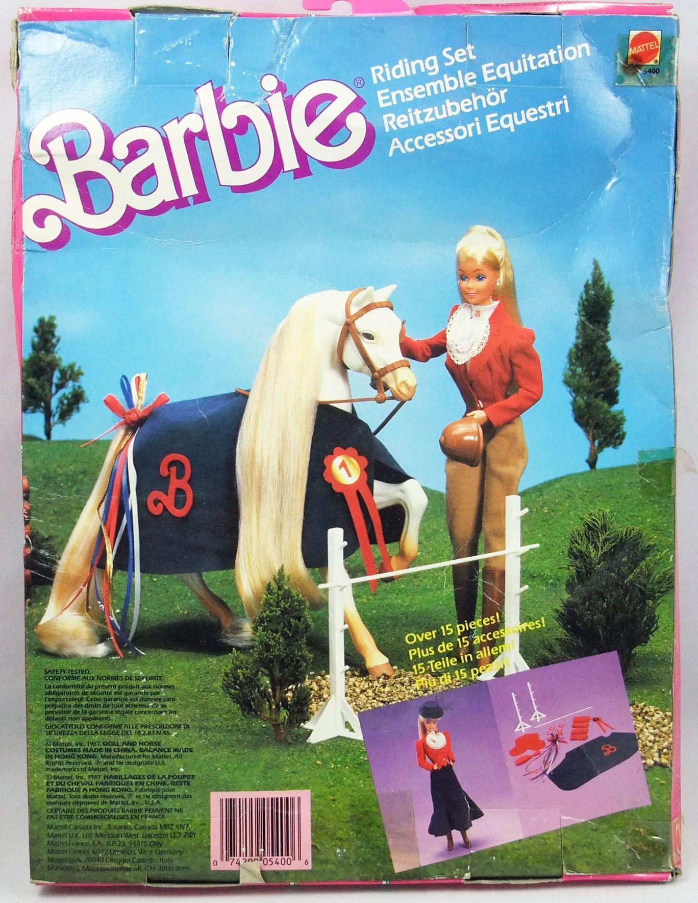 Barbie - Ensemble d\'Equitation - Mattel 1987 (ref.5400)