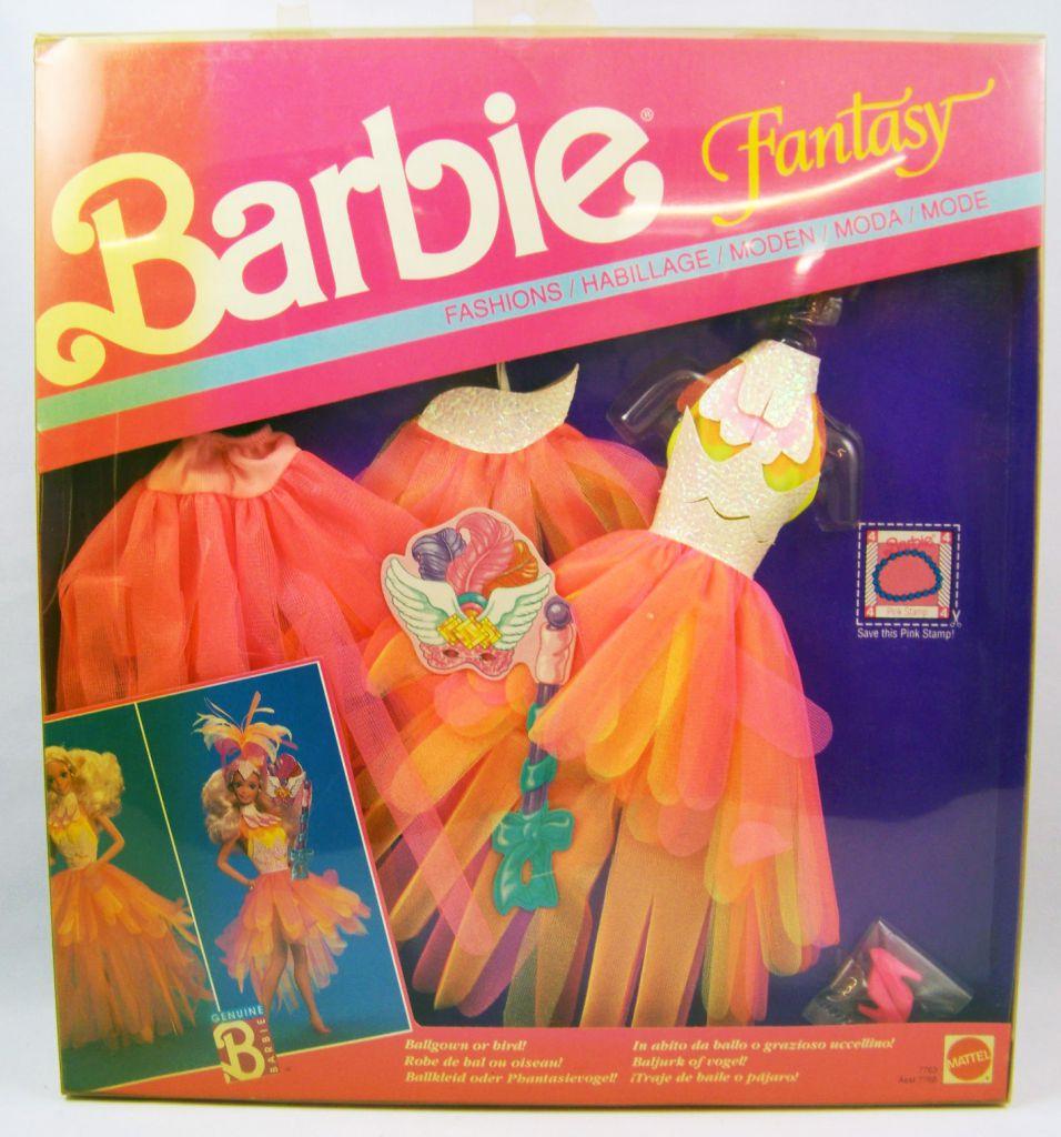 Barbie - Habillage Fantasy - Robe de Bal ou Oiseau - Mattel 1990 (ref.7763)