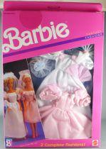 Barbie - Habillage Fantasy Fashion 2 Tenues Mariage - Mattel 1989 (ref.8242)