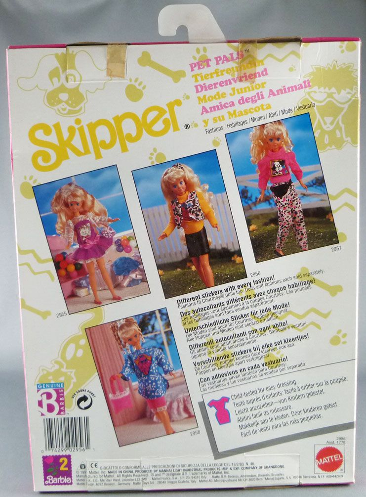Barbie - Habillage Skipper Mode Junior - Mattel 1991 (ref.2956)
