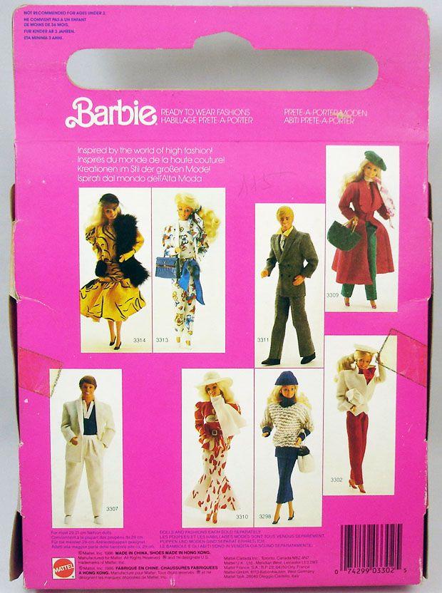 Barbie - Ready to Wear Fashion for Barbie - Mattel 1986 (ref.3302)