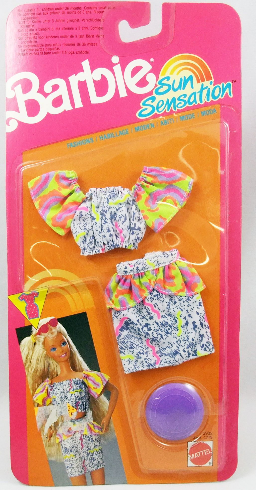 Barbie - Sun Sensation Fashions - Mattel 1991 (ref.2932)
