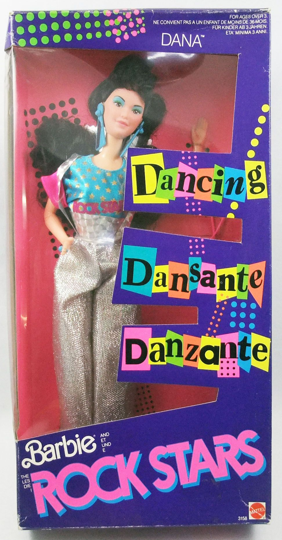 Barbie \u0026 The Rockers Dancing Dana - Mattel 1986 (ref.3158)