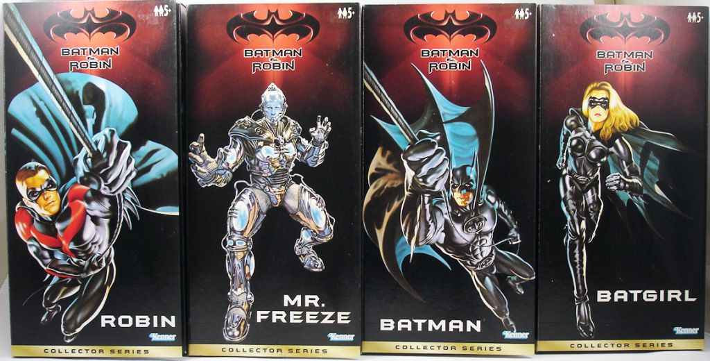 Batman Robin 1997 Set Of 4 12 Collector Series Figures Kenner Mr Freeze Batgirl Batman Robin