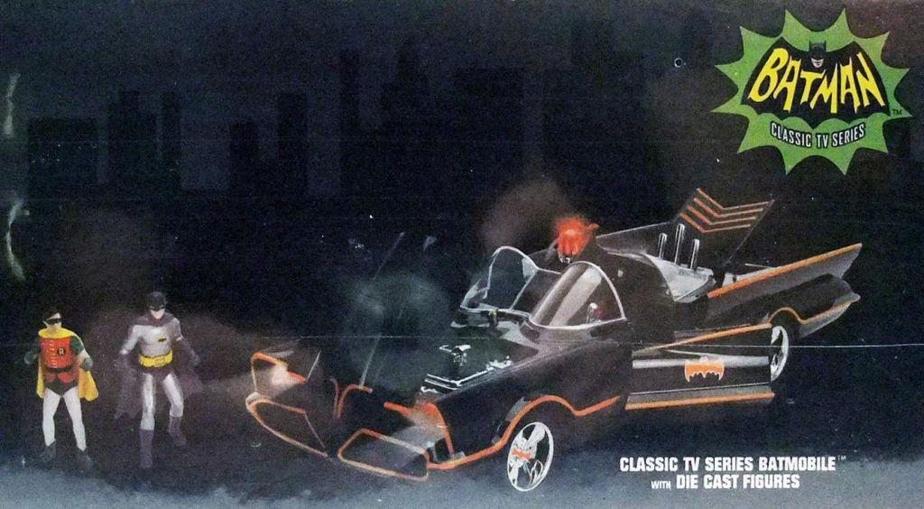Batman (Classic TV Series) - Jada - 1:18 scale die-cast with lights Batmobile with Batman & Robin figures