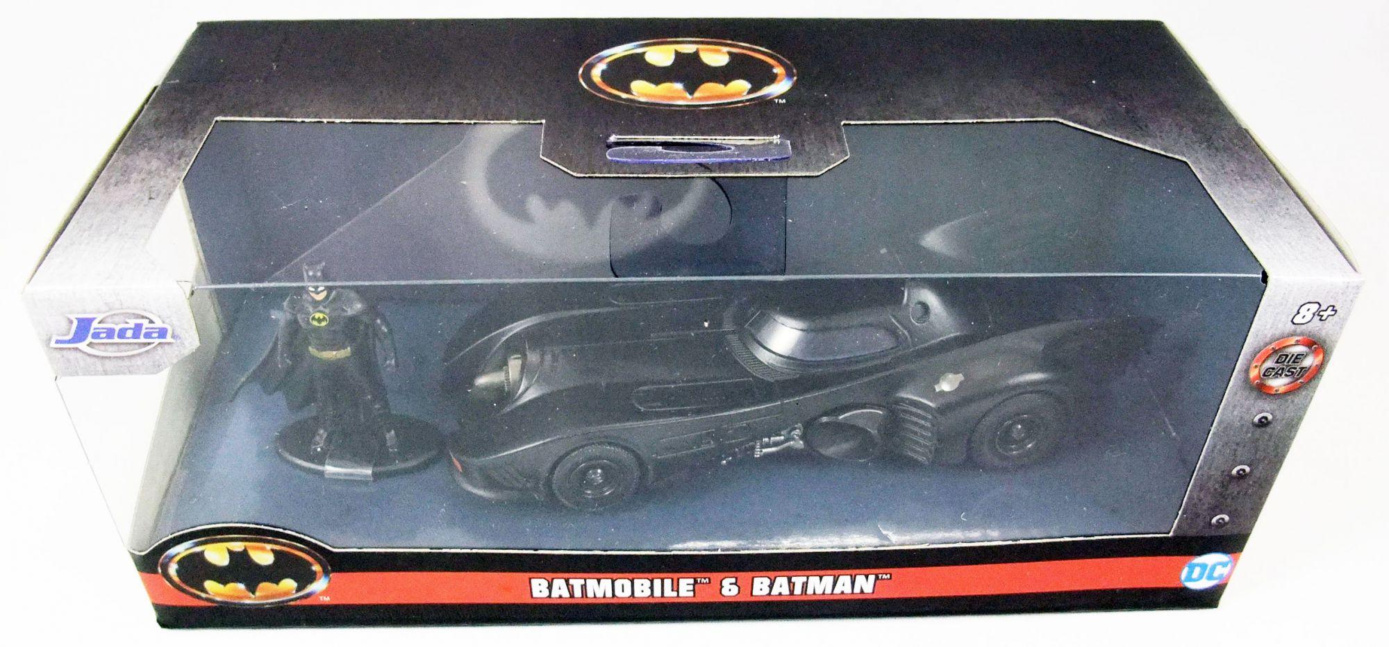 Batman le Film (1989) - Jada - Batmobile metal 1:32ème avec figurine Batman