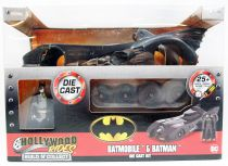 Batman le film (1989) - Jada - Build N\' Collect Batmobile metal 1:24ème avec figurine Batman