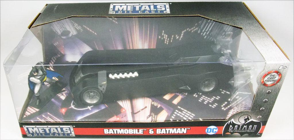 Jada Toys - Batman The Animated Series - 1:24 scale die-cast Batmobile with  Batman figure