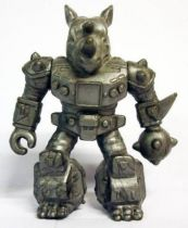 Battle Beasts - #09 Rocky Rhino \'\'silver monochrome\'\' (loose without weapon)