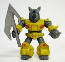 Battle Beasts - #09 Rocky Rhino (loose with weapon)