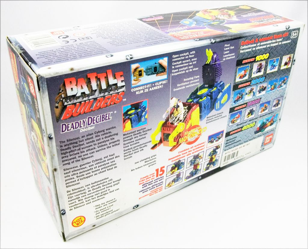 Battle Builders - Deadly Decibel & The Silencer / Decibel & Silenceur - ToyBiz Bandai