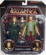 Battlestar Galactica - Diamond Select figures - Kara \'\'Starbuck\'\' Thrace & Leoben \'\'Two\'\' Conoy