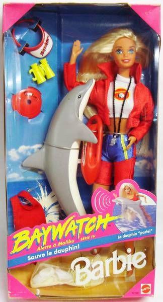 Mattel Baywatch Barbie w// Dolphin Friend 1994 Doll **NEW**