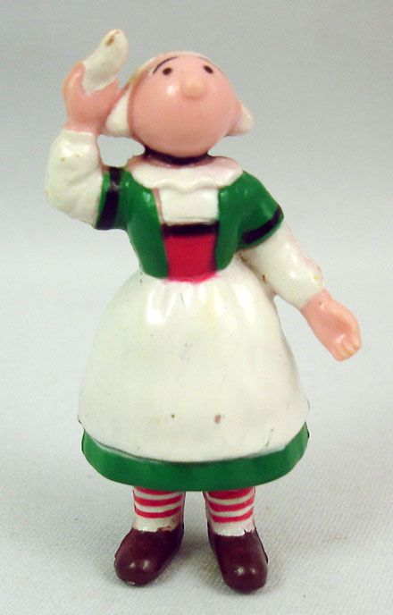 Bécassine - Minerve - Figurine pvc Becassine agitant un mouchoir