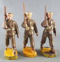 Beffoid - Armée Coloniale Française - 3 Tirailleurs Kaki Défilant Fusil Épaule