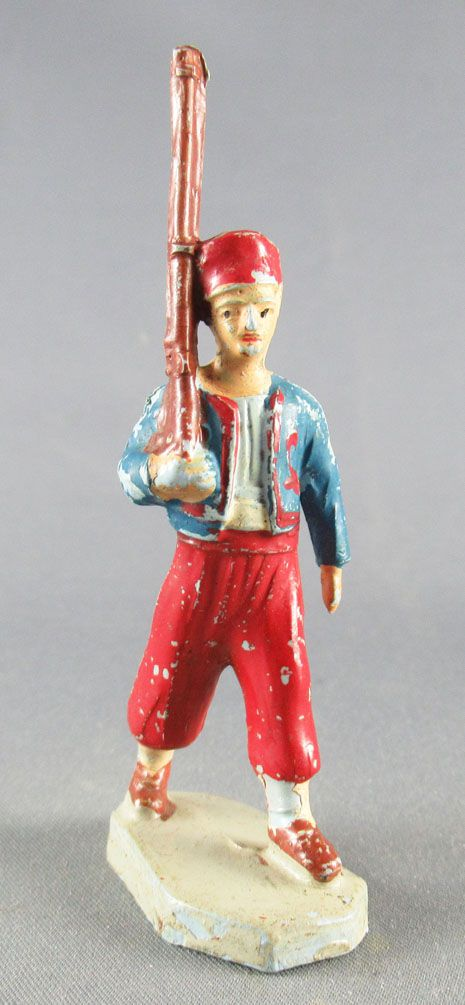 Beffoid - French Colonial Army - Zouave Red Pants Marching Rifle Shoulder