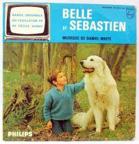 Belle et Sébastien - Disque 45T - Bande Originale du feuilleton - Disque Philips 1965