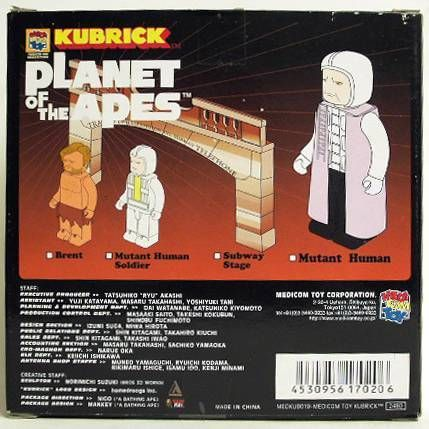 Beneath the planet of the apes - Medicom Kubrick - Mutant Human & subway stage w/ Brent & mutant soldier