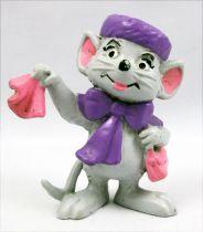 Bernard & Bianca - figurine pvc Bully - Bianca (noeud et chapeau violet)