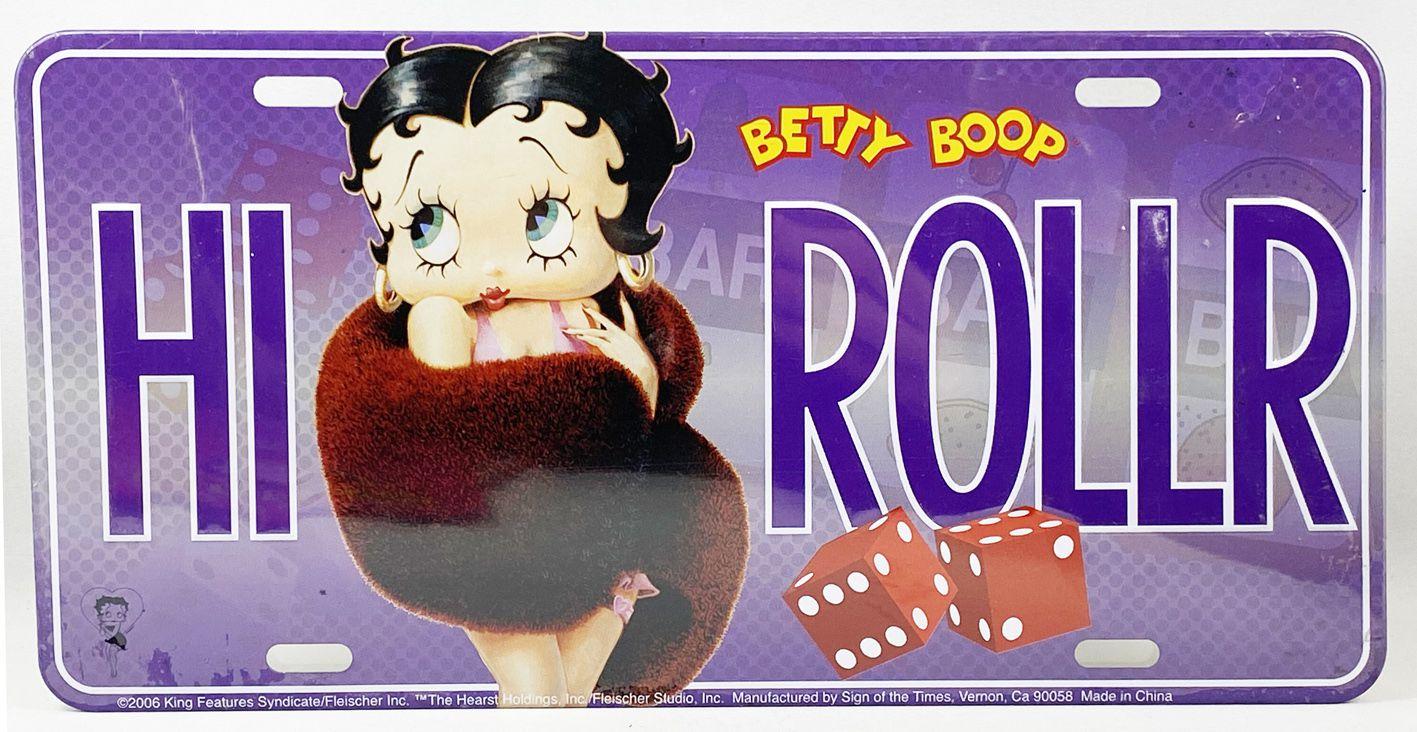 "Betty Boop - Plaque immatriculation US - \""Hi Roller\"""
