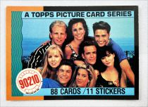 Beverly Hills 90210 - Topps Trading Cards (1991) - Complete series of 88 cards + 11 stickers
