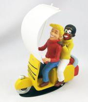 "Bibi Fricotin - Resine statue - Bibi Fricotin and Razibus Zouzou \""Scooter kings\"""