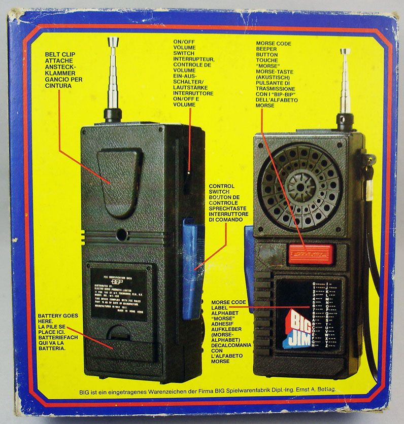 Big Jim - Walkie Talkies Emetteurs Recepteurs Portables - Mattel ref.9000