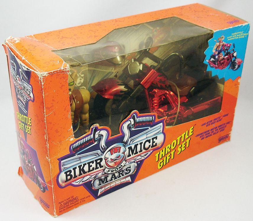 Biker Mice from Mars - Gift Set : Throttle & Chromotanium Martian Monster Bike - Galoob