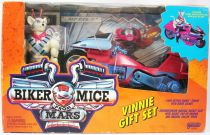 Biker Mice from Mars - Gift Set : Vinnie & Chromotanium Radical Rocket Sled - Galoob