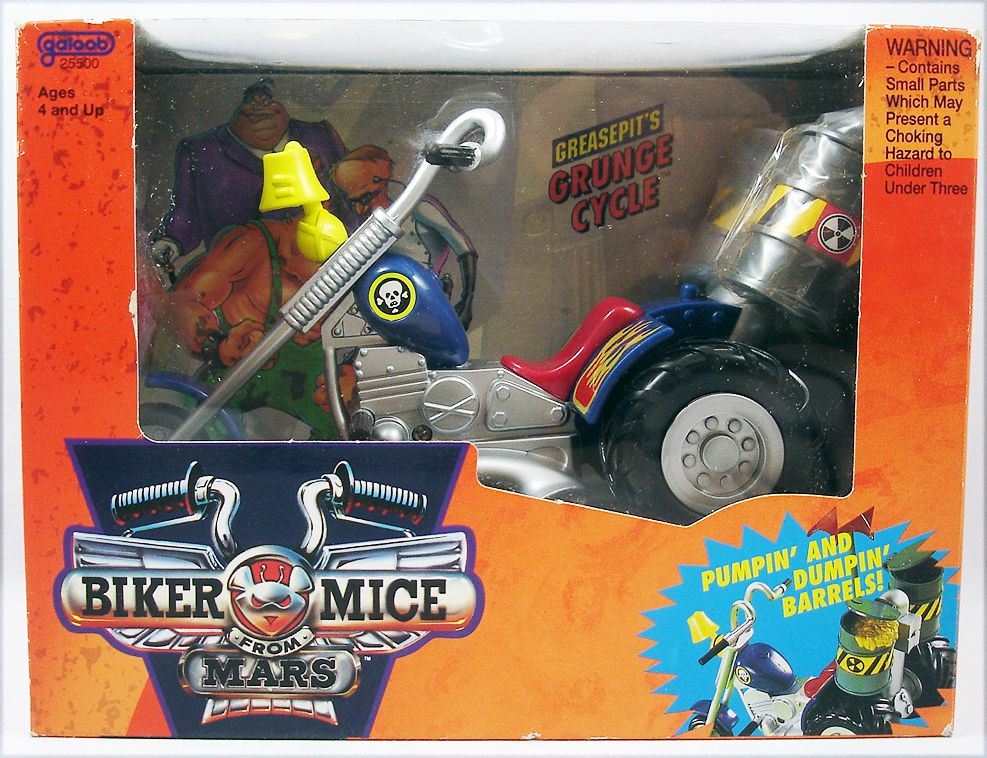 Biker Mice from Mars - Greasepit\'s Grunge Cycle - Galoob