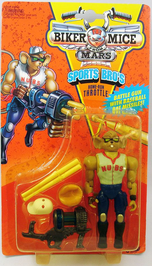 Biker Mice from Mars - Home-Run Throttle - Galoob