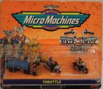 Biker Mice from Mars - Micro Machines set #1 (Throttle & Evil-Eye Weevil) - Galoob-Ideal