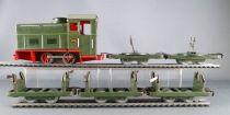 Biller Bahn Oe Gauge Clockwork Tin Train Diesel Loco 013 + Wagons