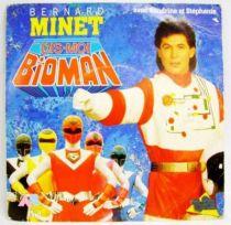Bioman Original French TV series Soundtrack - Mini-LP Record - AB Kids 1988