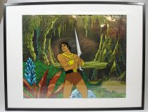 Blackstar - Filmation animation production cel - John Blackstar holding Starsword