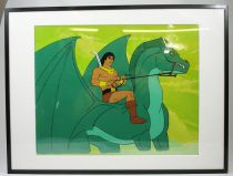 Blackstar - Filmation animation production cel - John Blackstar riding Warlock
