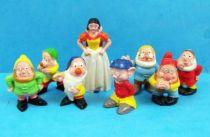 Blanche Neige & les 7 nains - Série Complète de 8 Figurines PVC Heimo