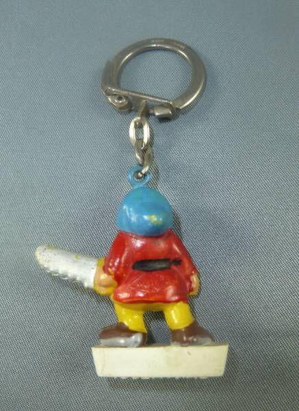 Blanche neige - Mini figurine Porte-clés Jim - Le nain Grincheux (Chocolat Cantaloup)