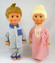 """Bonne Nuit les Petits - Gégé - Nicolas & Pimprenelle 11\"""" dolls - ORTF 1966"""
