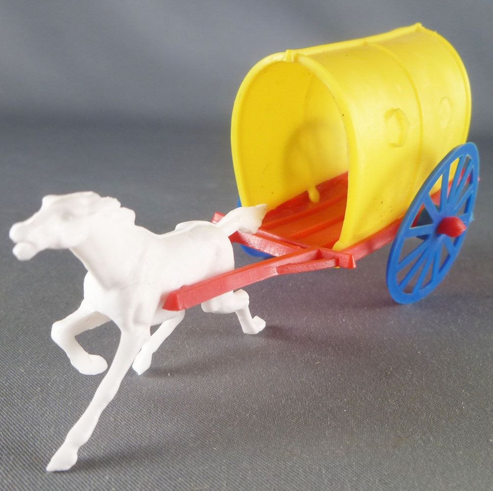Bonux - The Farm -  Red & Yellow Farm Wagon with horse