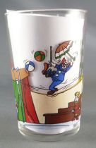 Bozo the Clown - Mustard glass - Bozo tightrope walker