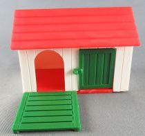 Britains - Agricole - Batiment Niche pour chien blanche toit rouge porte verte (réf 4703)