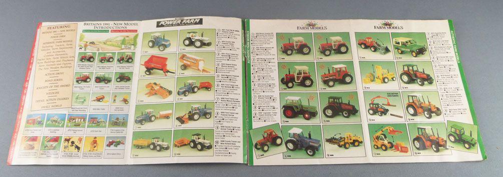 Britains - Catalogue Couleur 1991 12 Pages 15 x 21,3 cm